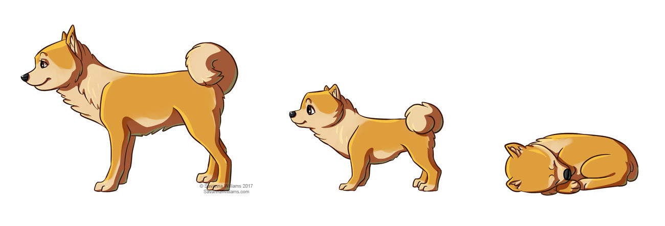 Artstation Dog Growth Stages Savanna