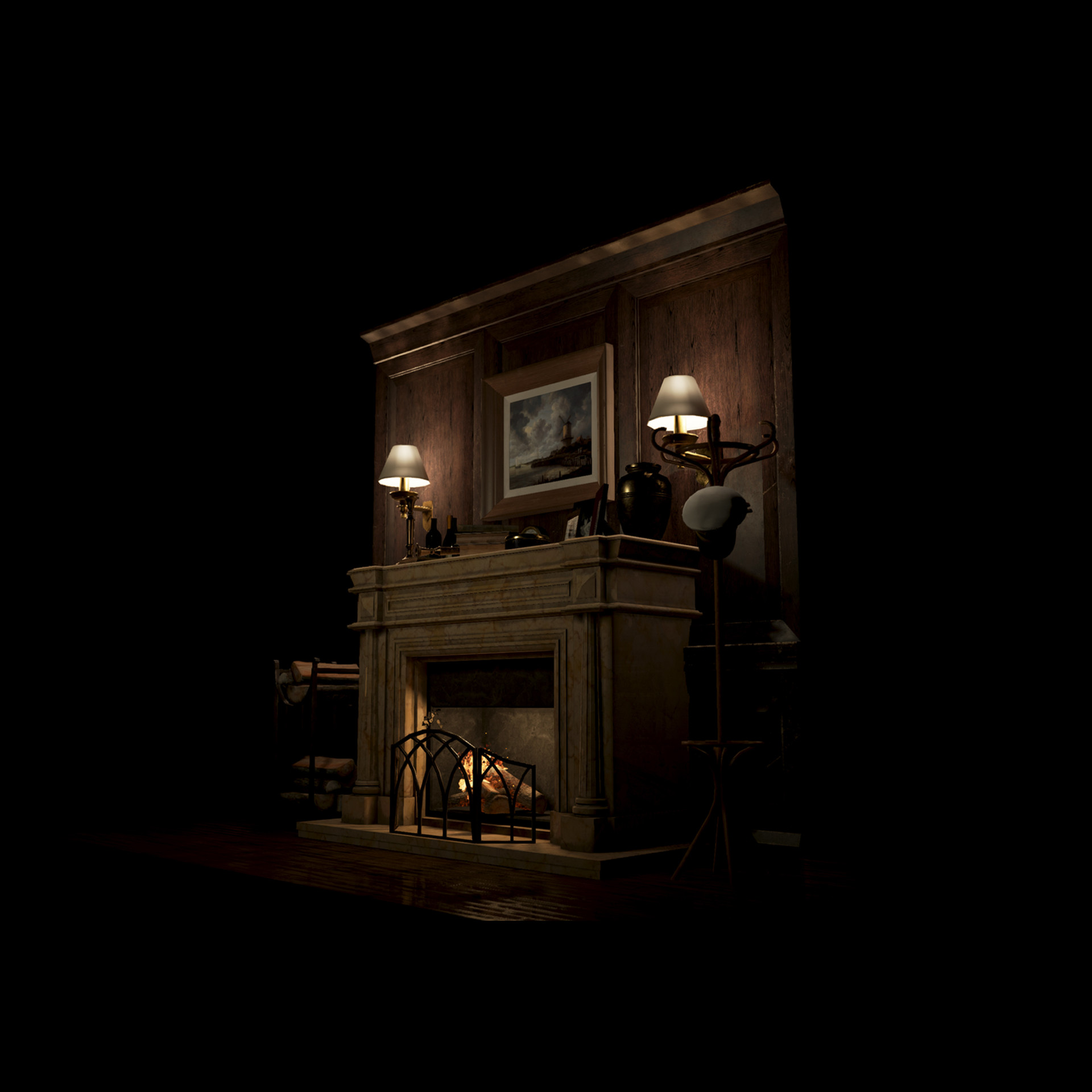 Mine yilmaz ulas fireplace1