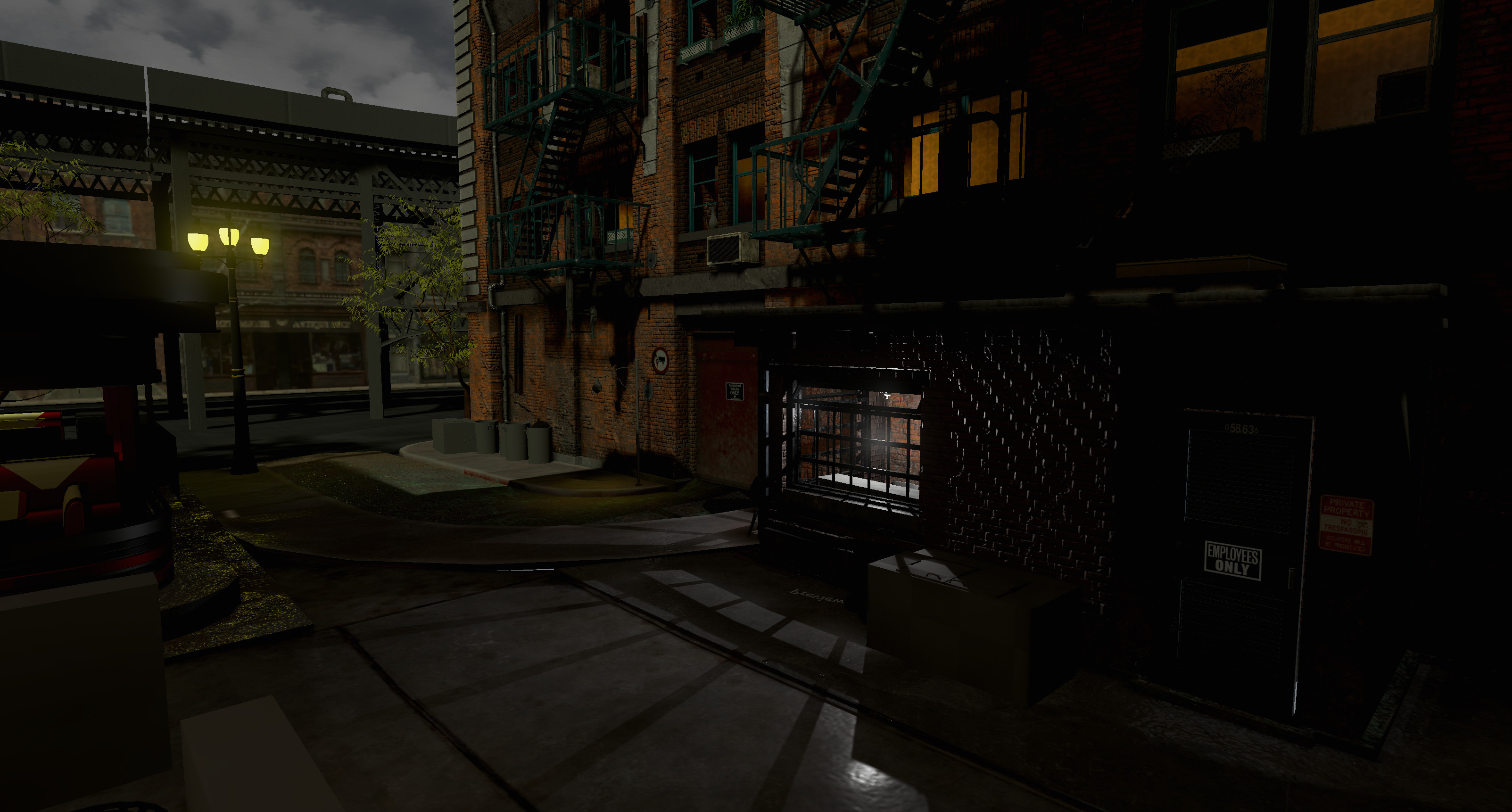 Early ingame render of the lighting