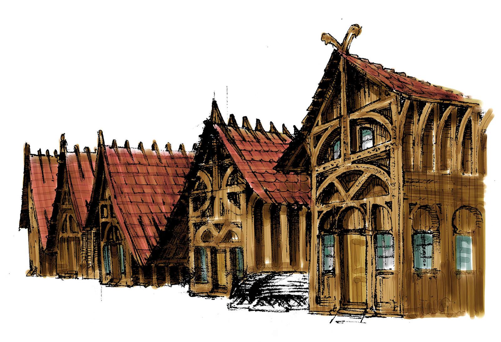 Esgaroth buildings