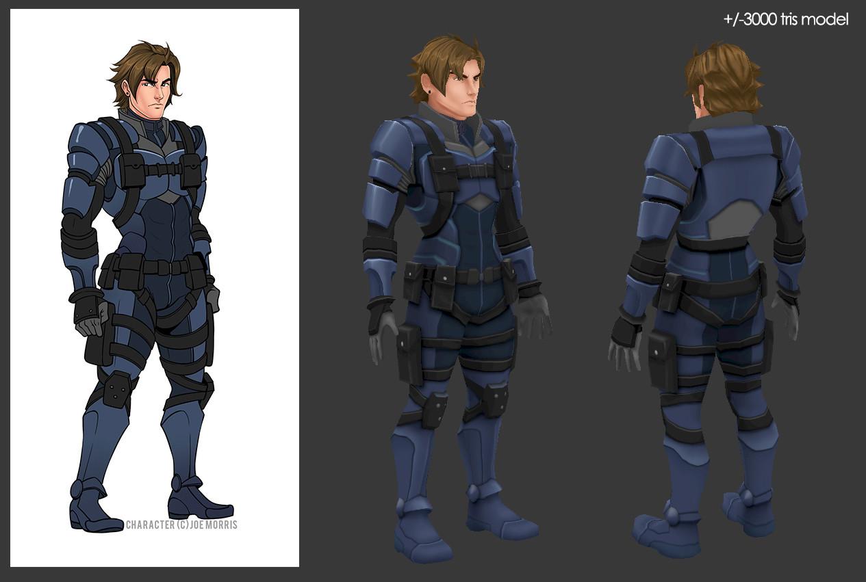 Oziel leal salinas blue soldier
