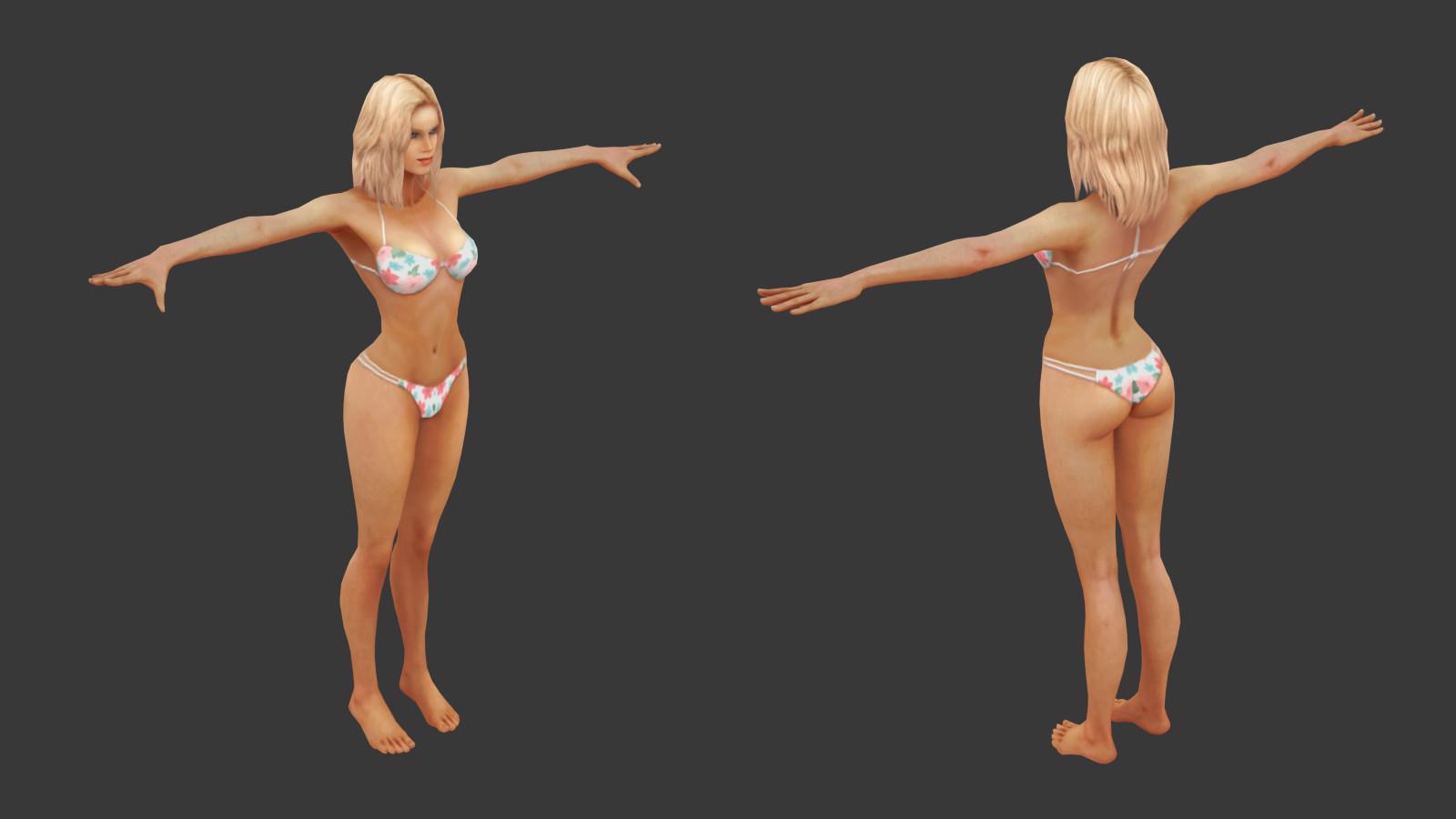 Oziel leal salinas tanned bikini woman 2