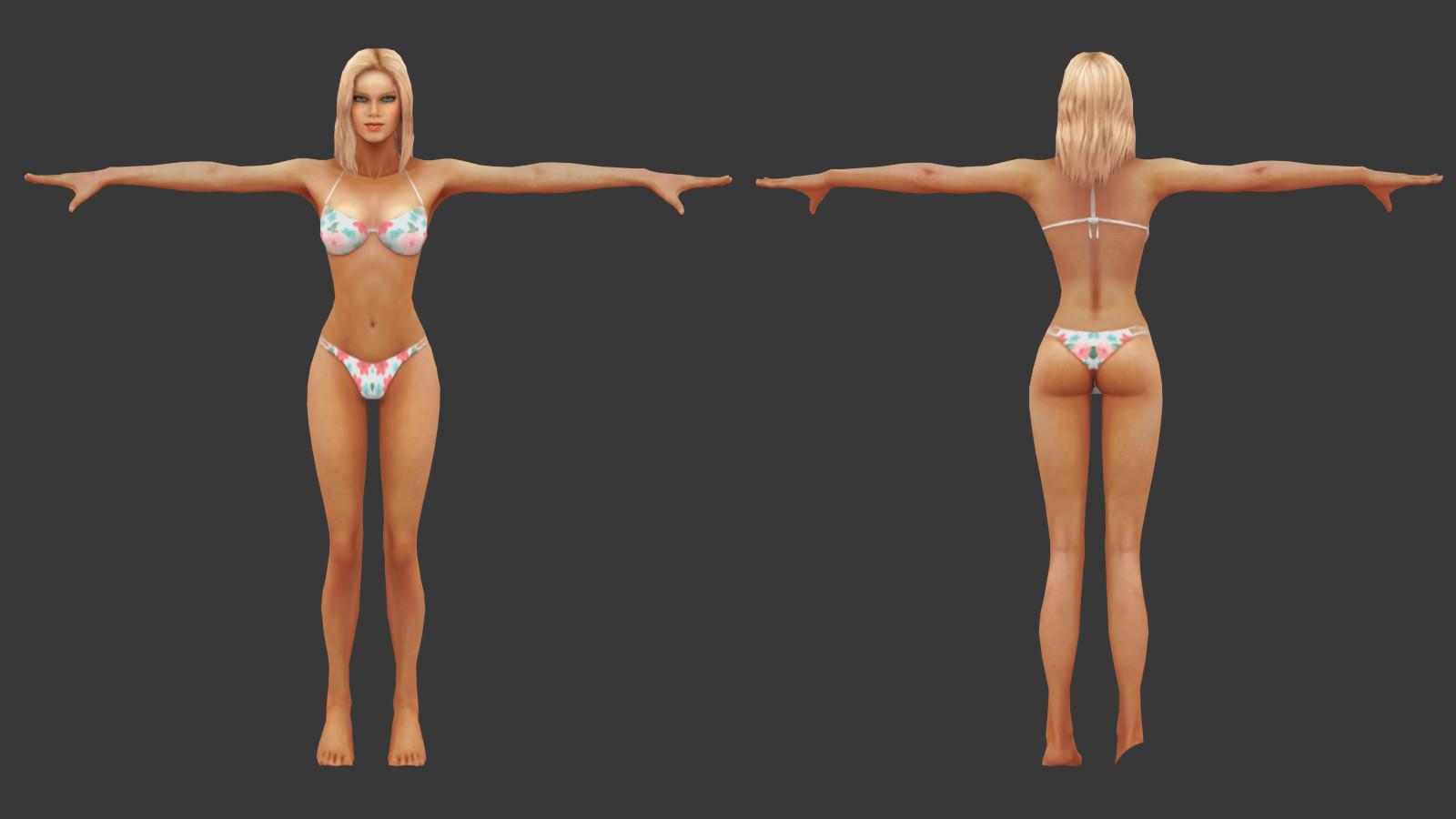 Oziel leal salinas tanned bikini woman