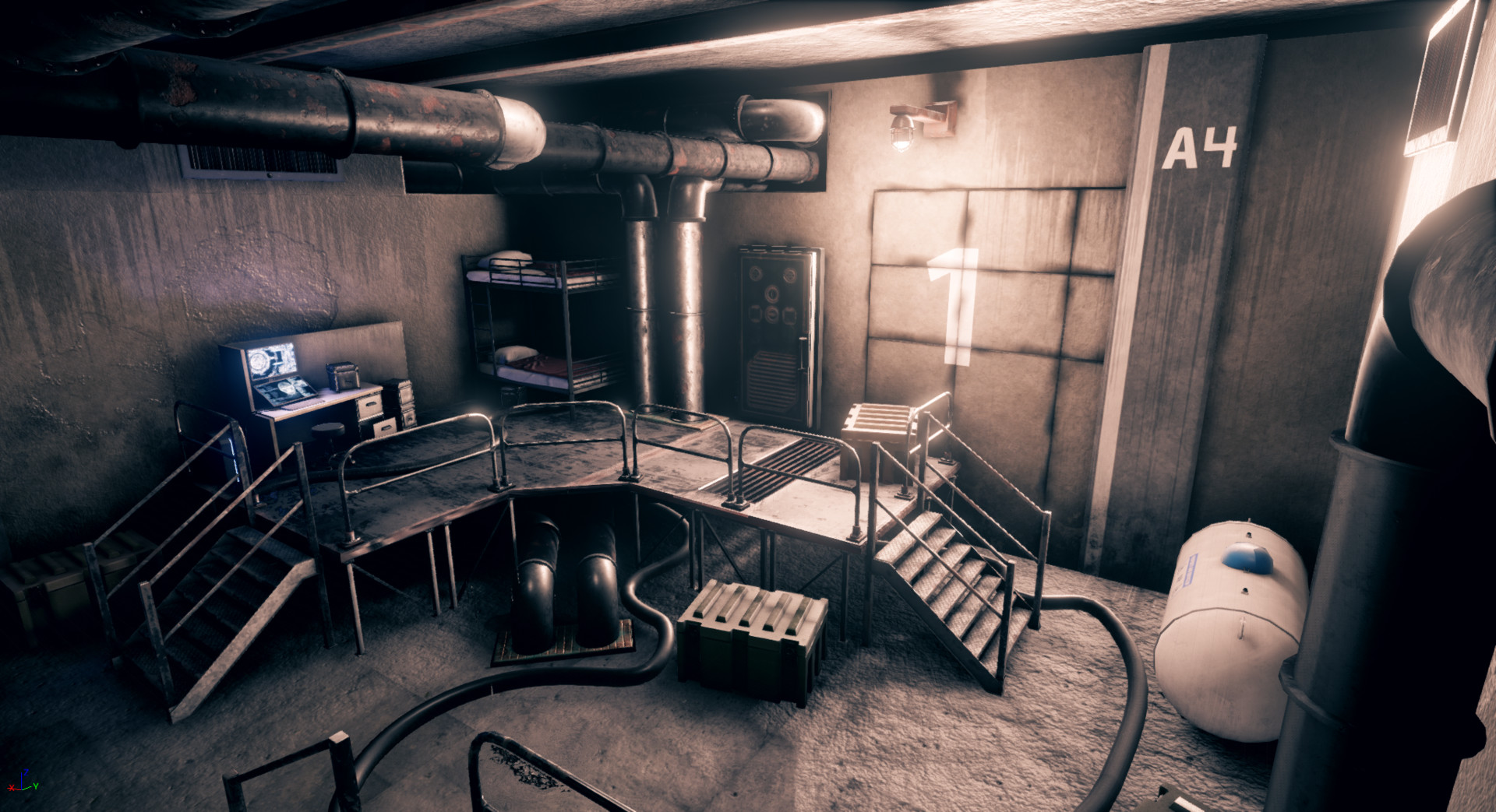 Unreal Engine 4 Bunker environment