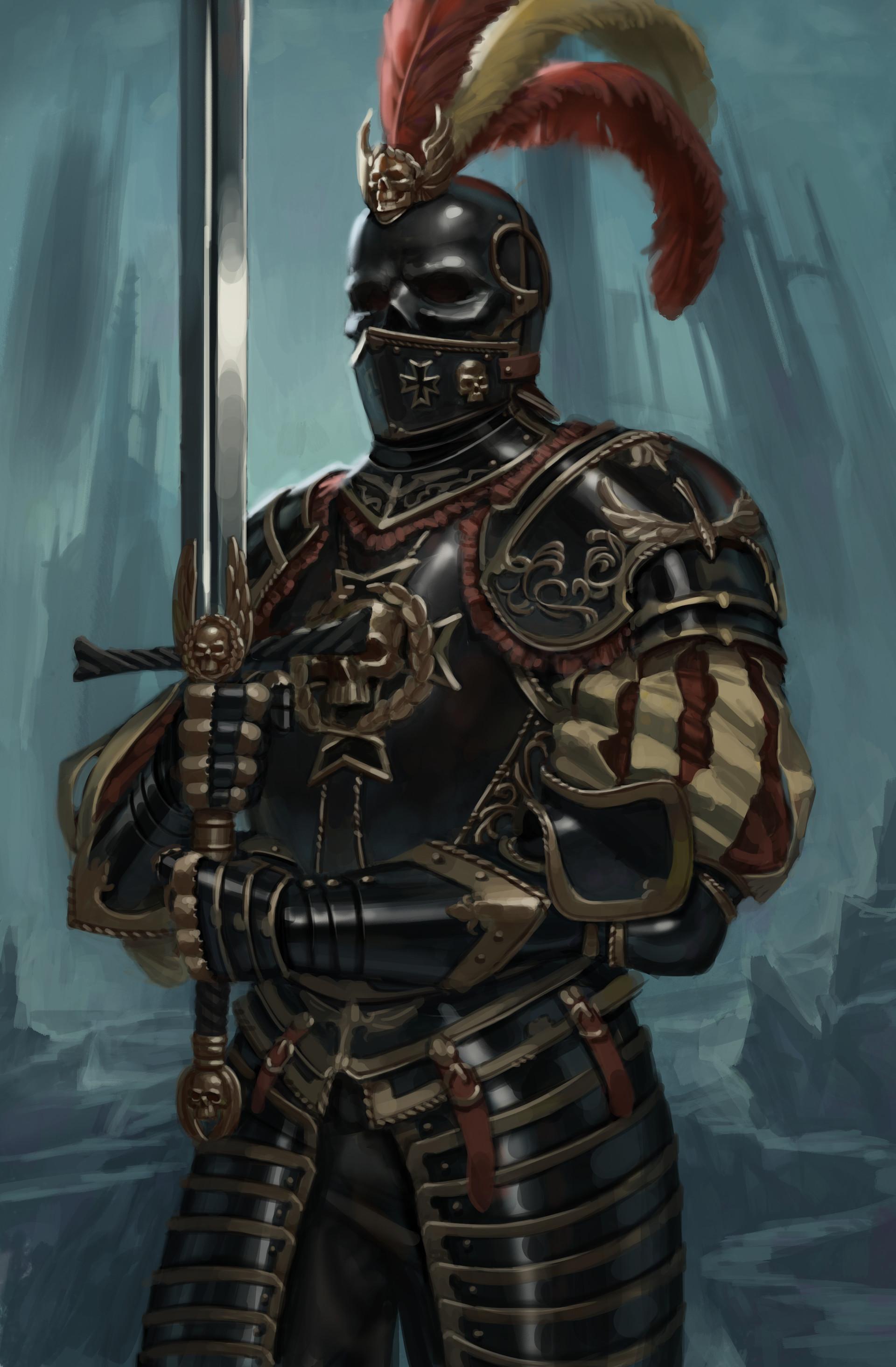 ArtStation - Black Guard of Morr, Riccardo Moscatello Medieval Knights Armor