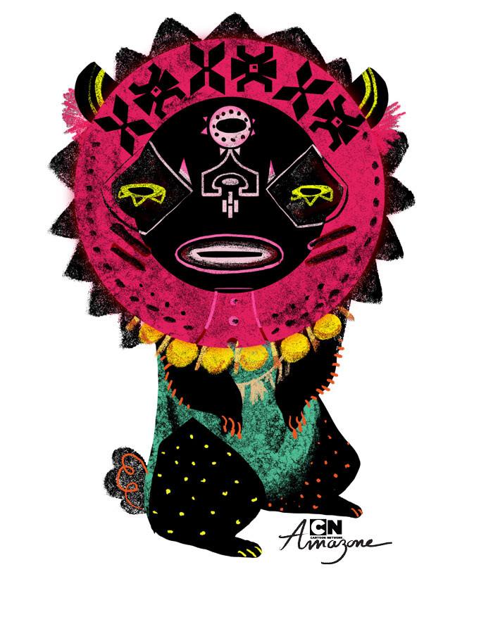 Anais marmonier anais marmonier concept art cartoon network amazone tropical island tiki 2
