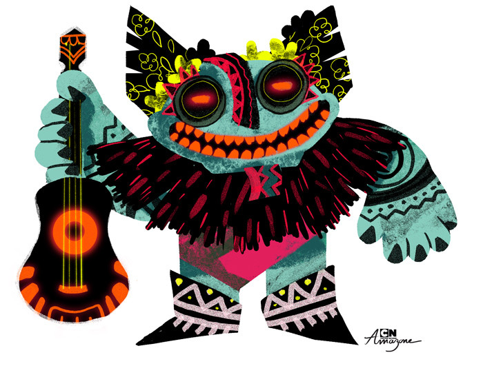Anais marmonier anais marmonier concept art cartoon network amazone tropical island tiki tiki