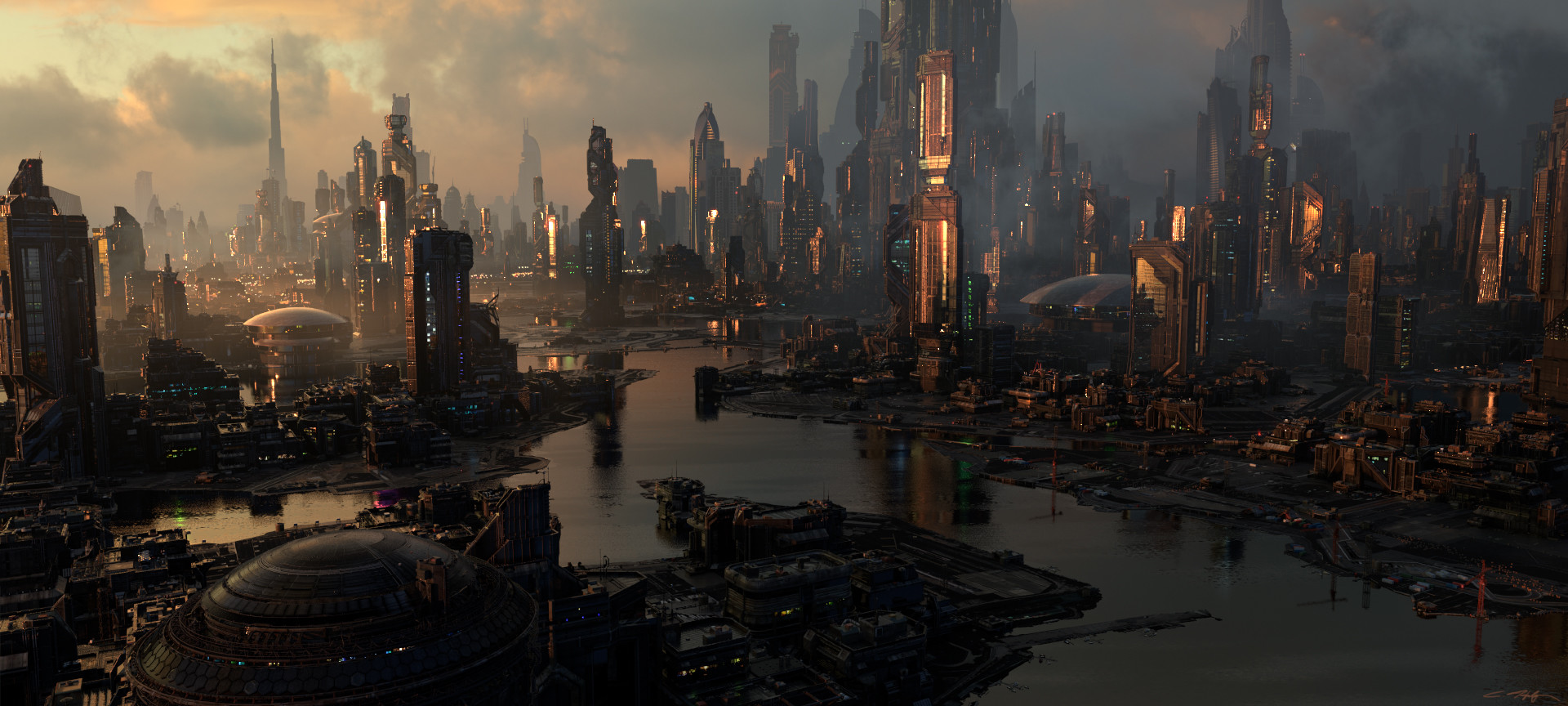 art futuristic cities - photo #47