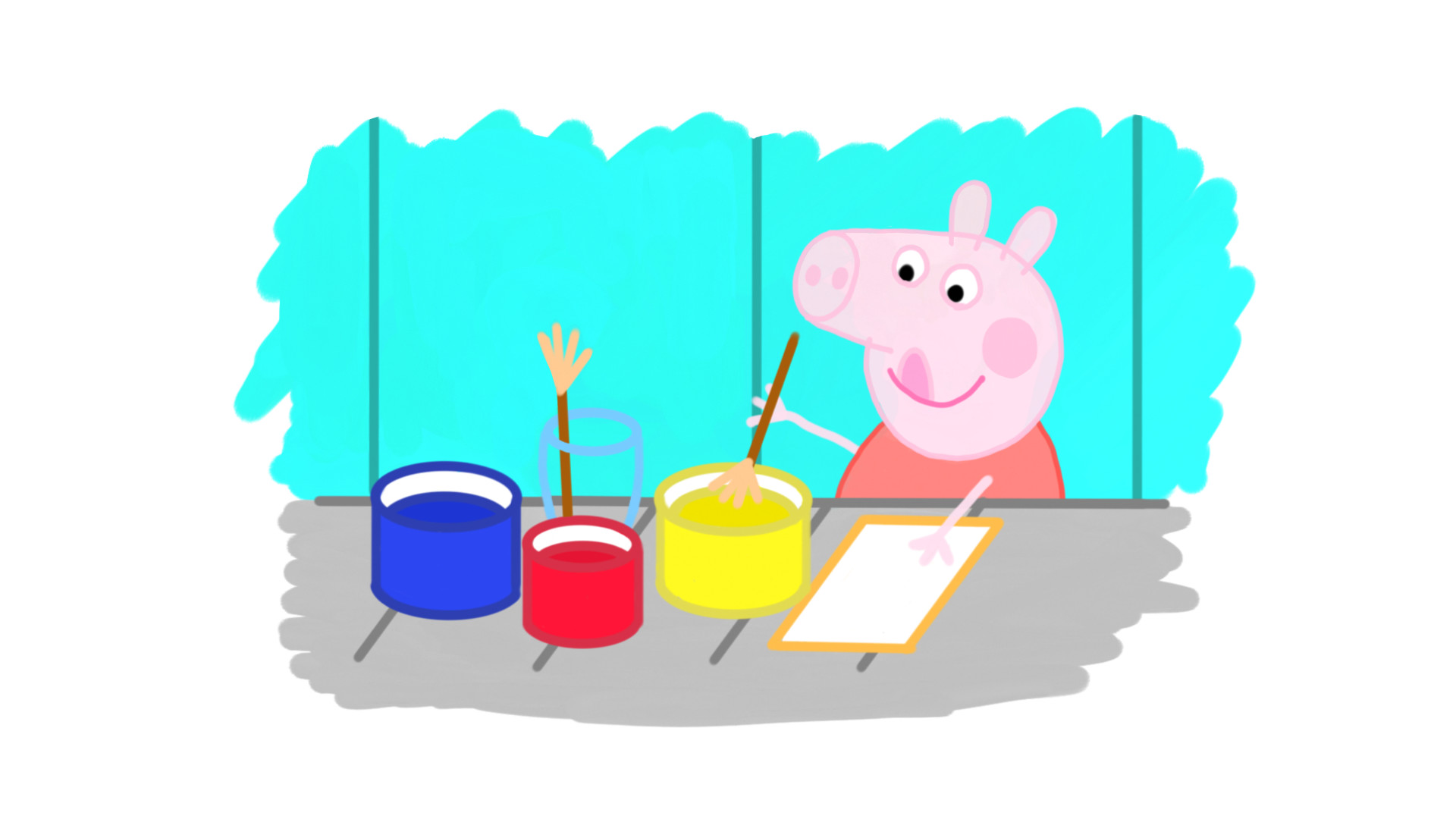 Drawing peppa pig