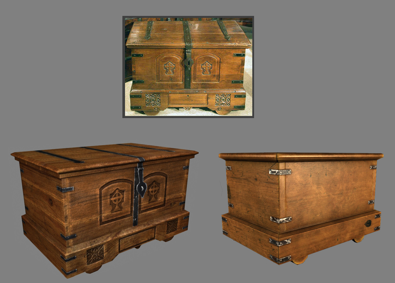 Oziel leal salinas wood chest