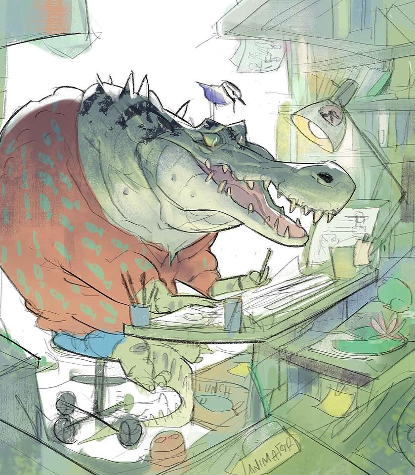 """Alligators can't sweat"" 