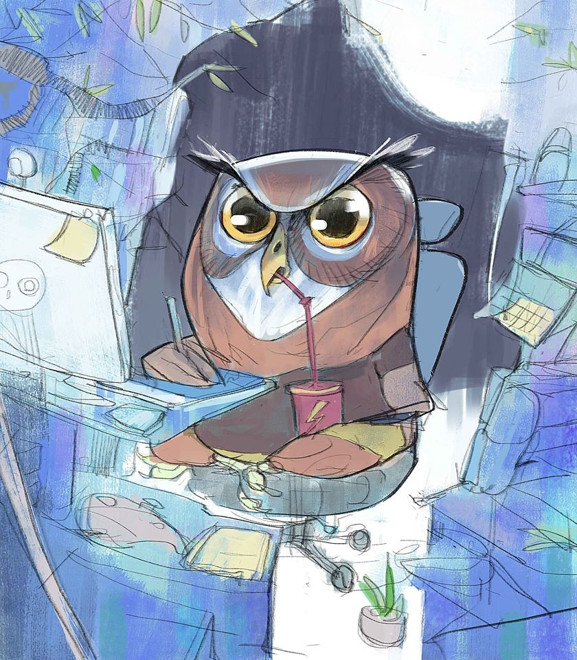 """Owls love freelance"" 