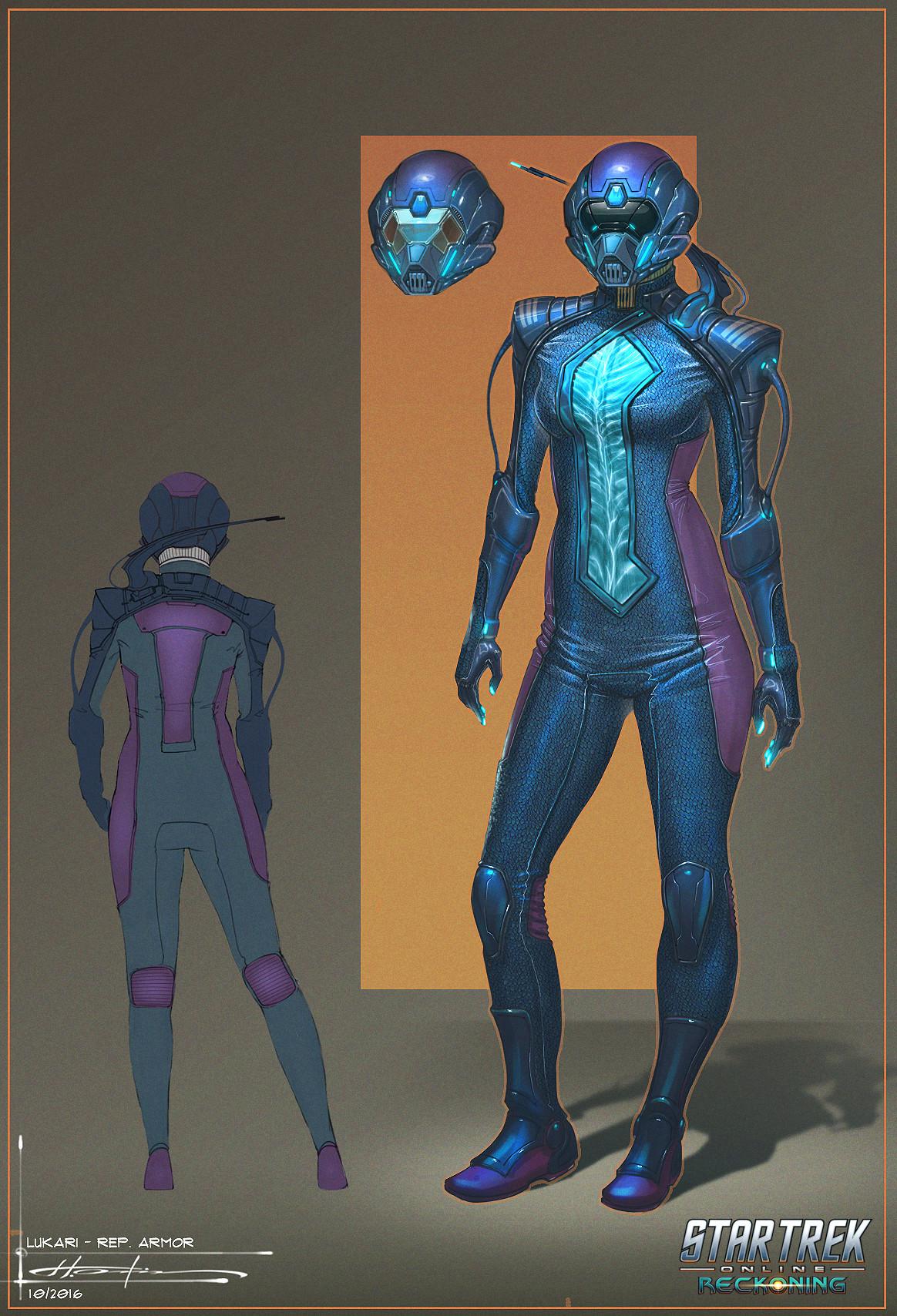 Artstation Lukari Armor Suit Star Trek Online Hector Ortiz