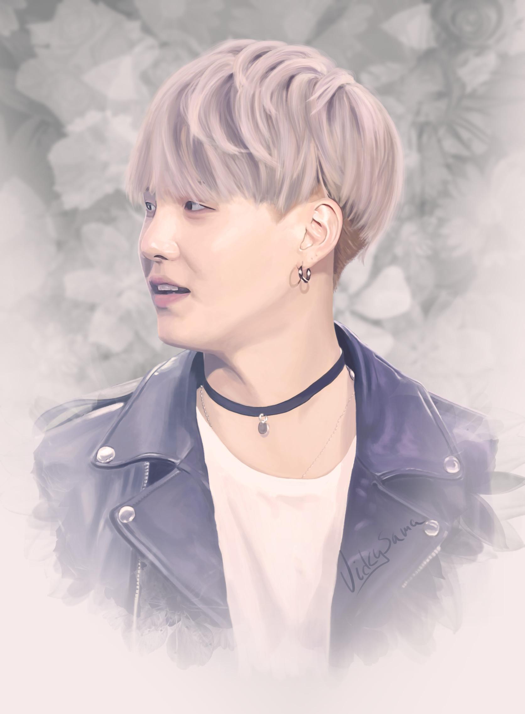 ArtStation - Suga from BTS digital art, Vicky Sama