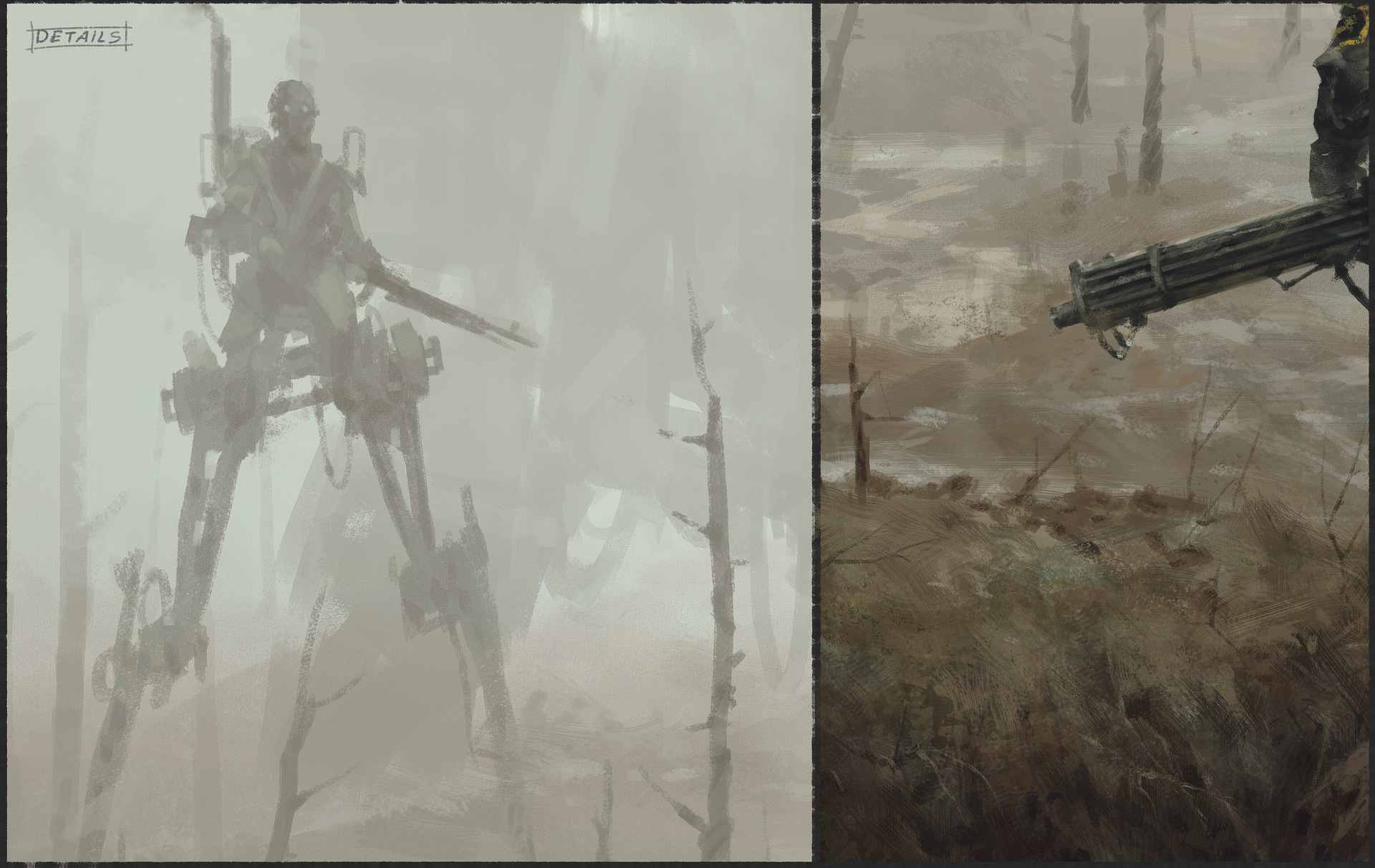 Jakub rozalski 1920 no mans land process4