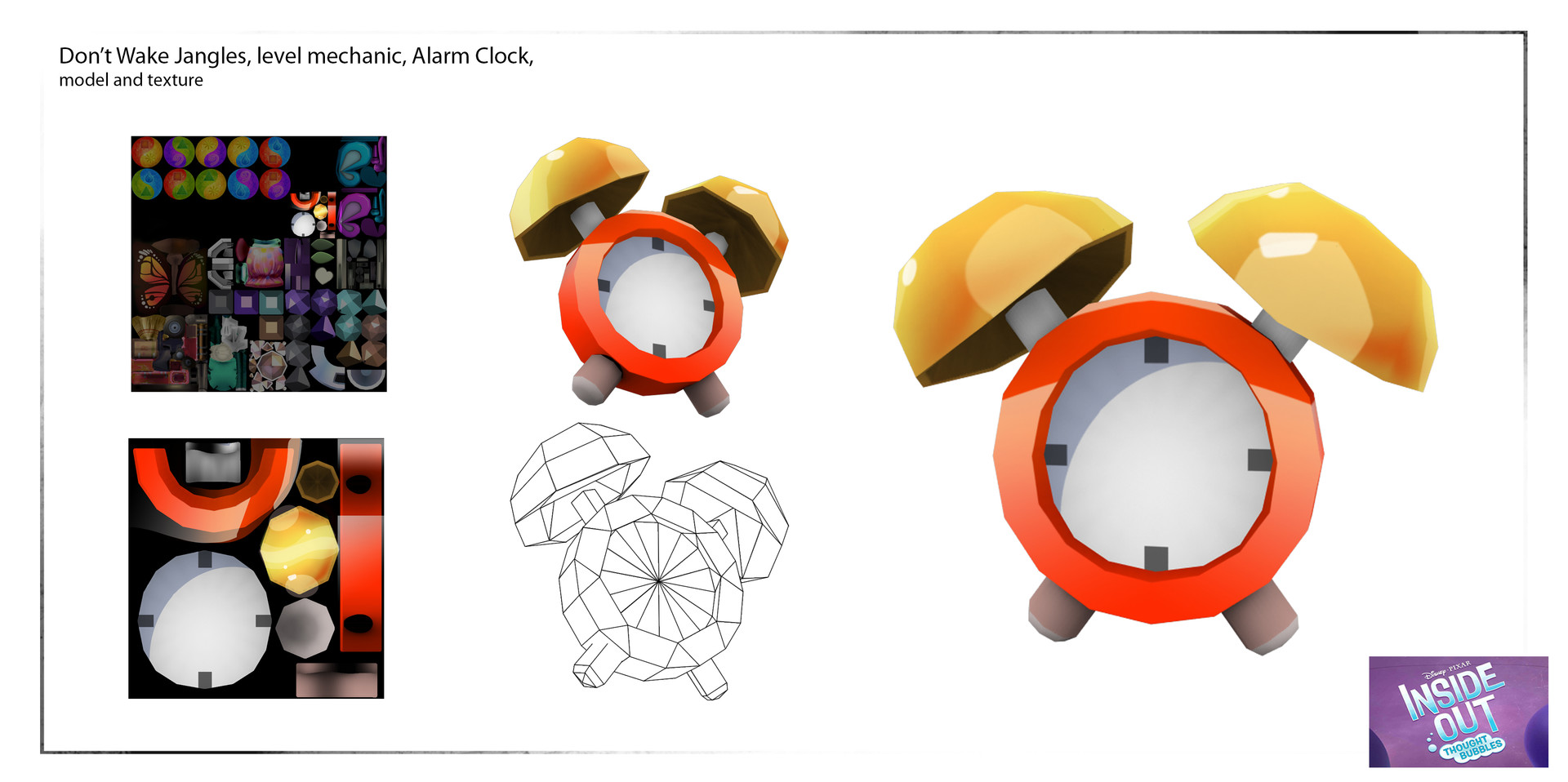 Modeled, painted textured and animated alarm clock for in game mechanic