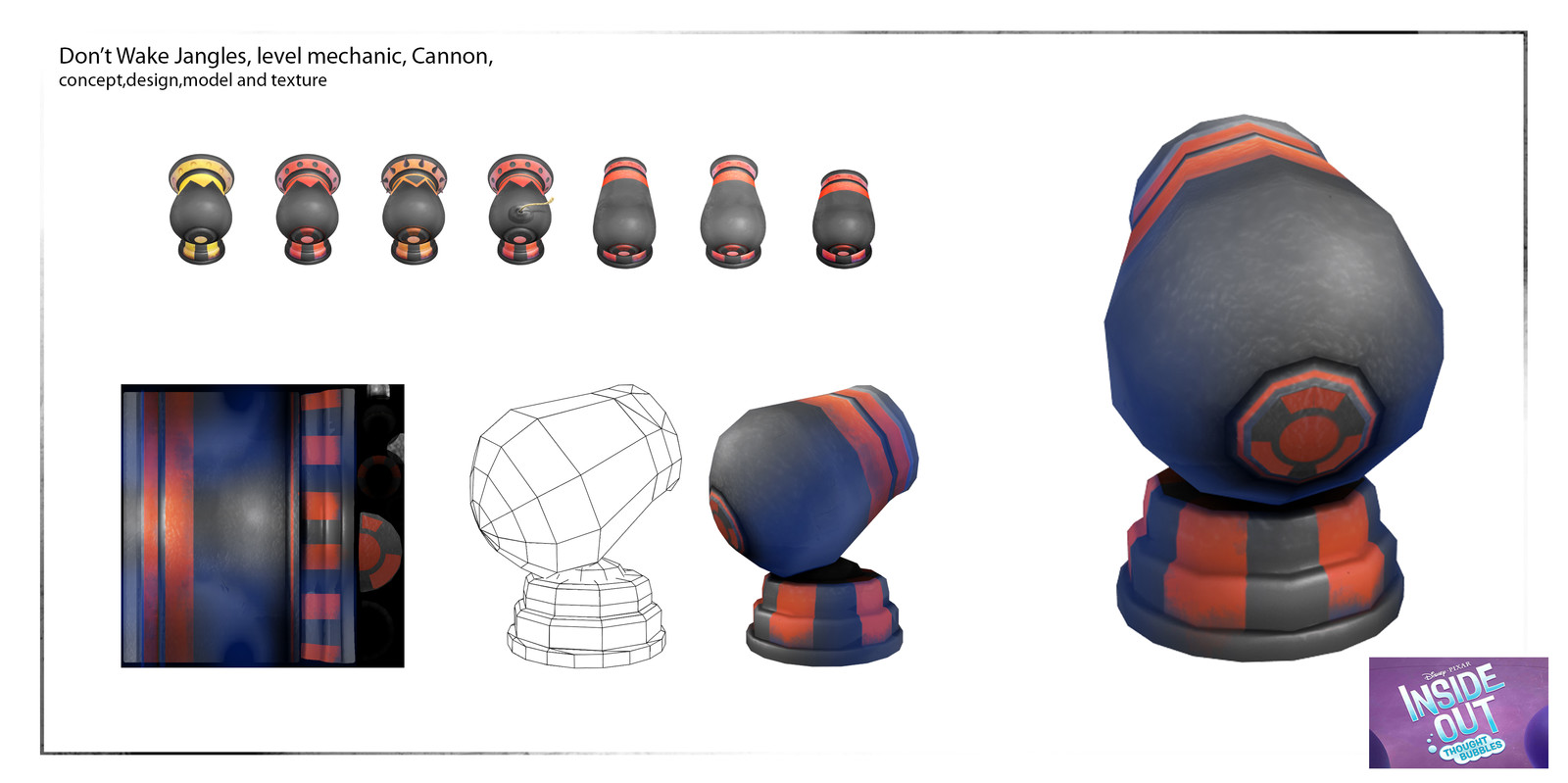 Conceptualized, design , model, painted texture and base animation for game mechanic