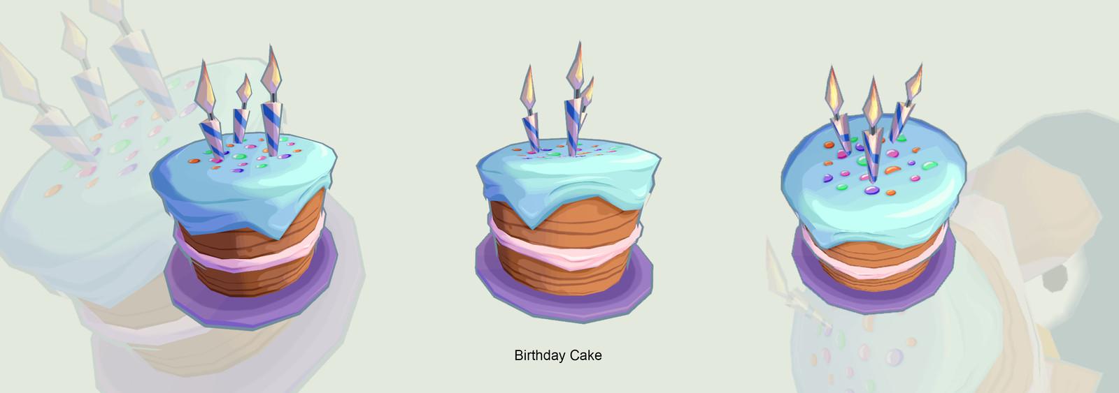 Penguin Birthday cake Model and texture