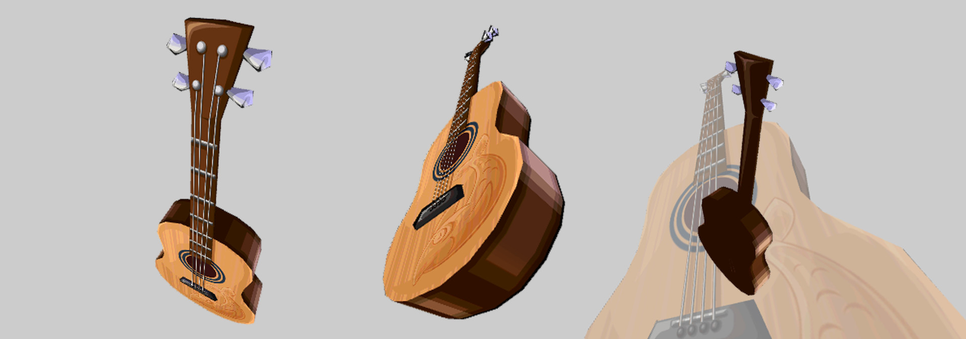 Penguin Guitar Model and texture