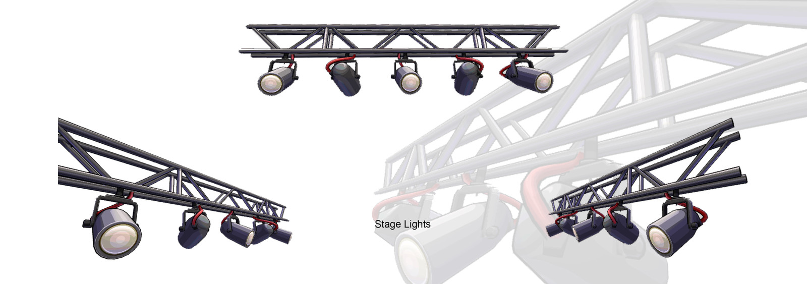 Stage Lights Model and texture