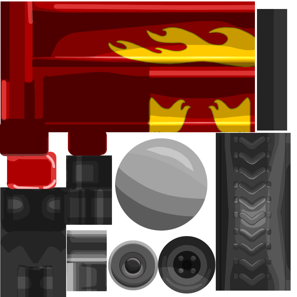 Full painted texture For Earthquake drill wagon