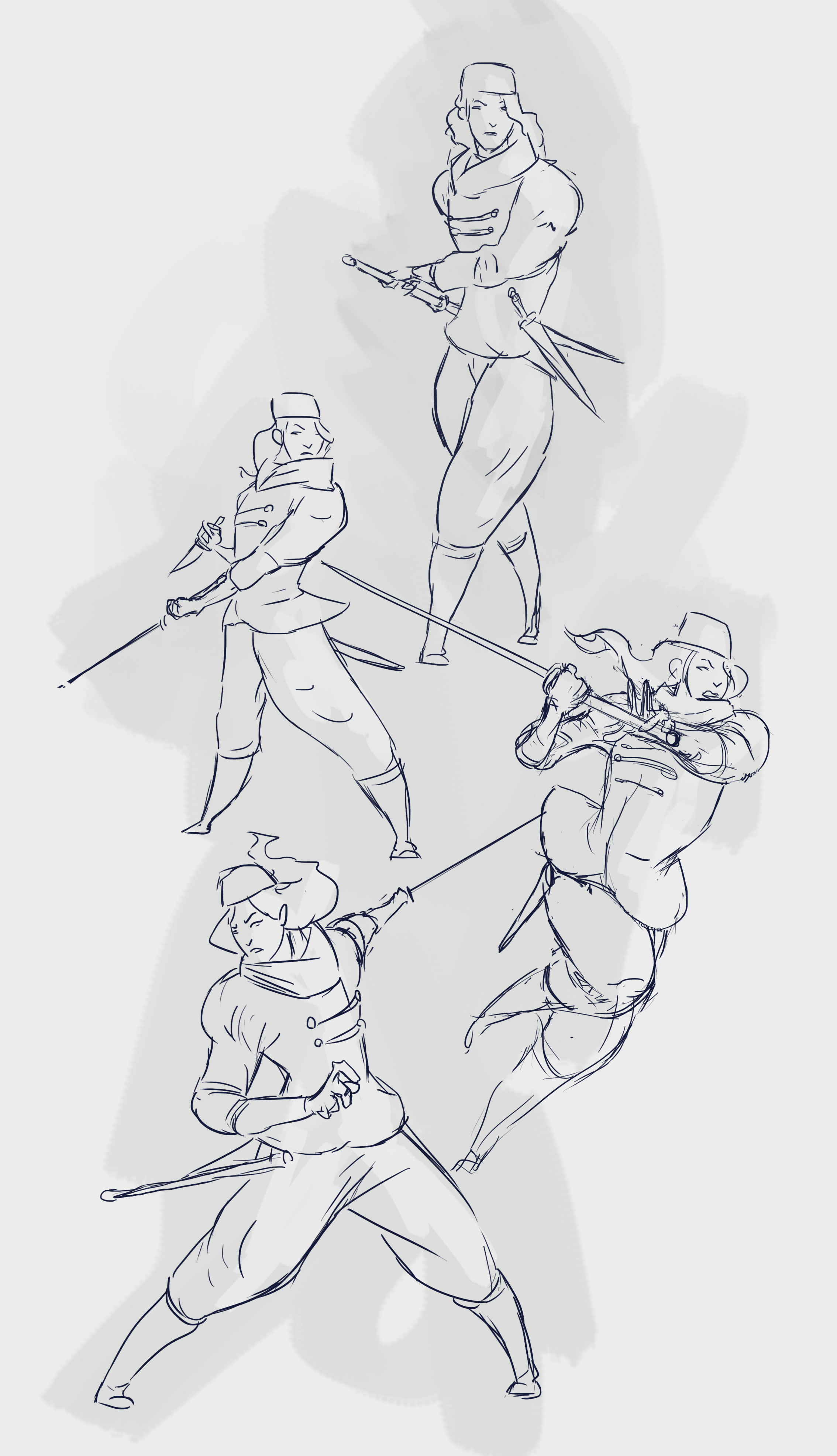 """First """"detailed"""" sketches"""