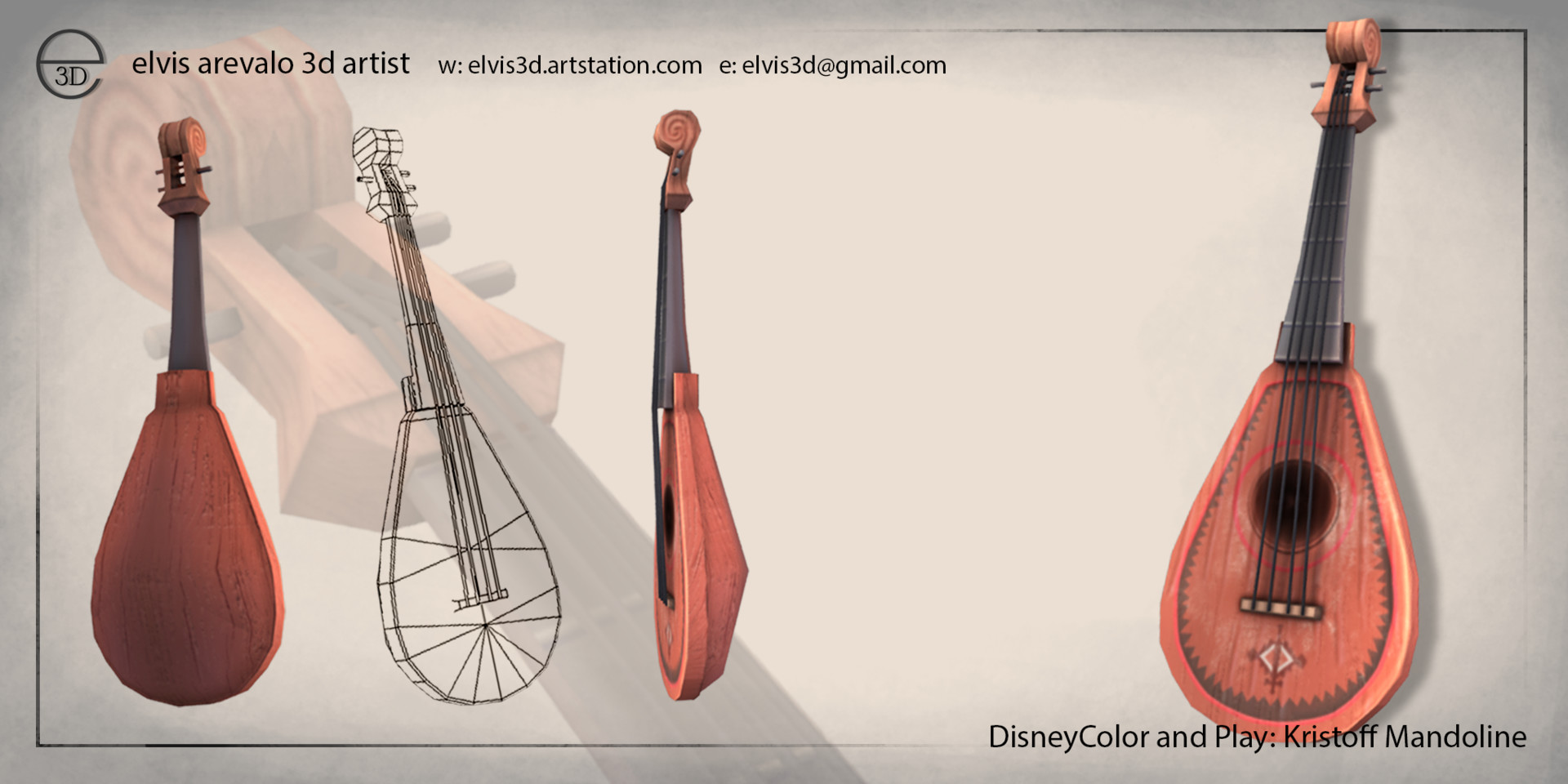 Kristoff Mandolin Model And texture