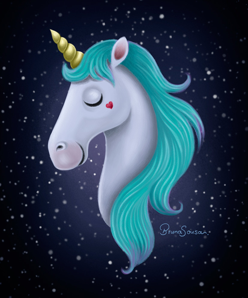 Bruna sousa unicorn digitalpainting