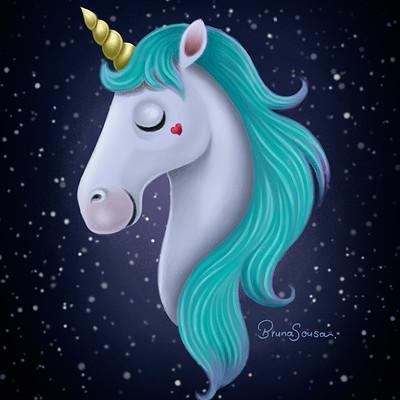 Bruna sousa unicorn digitalpainting