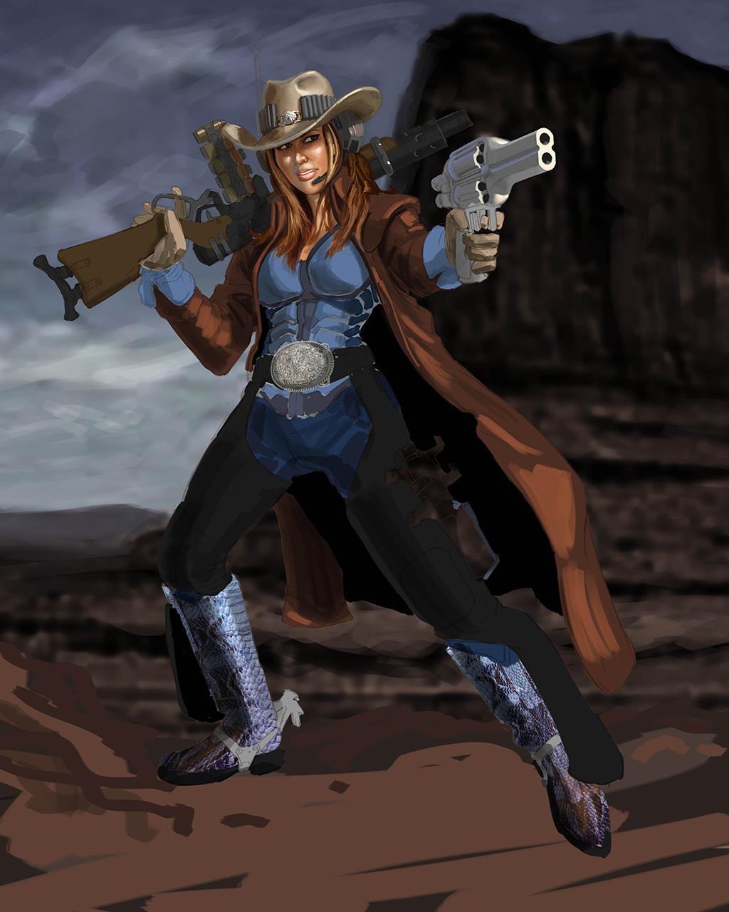 Jeff zugale cowgirl 01d paintprogress1 lo