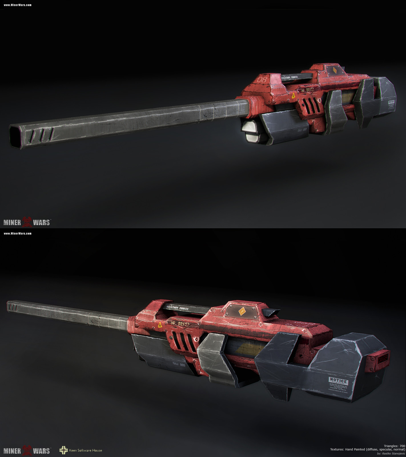 700 tris, hand painted textures