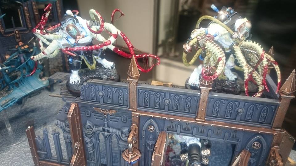 Close-up on my converted grotesques