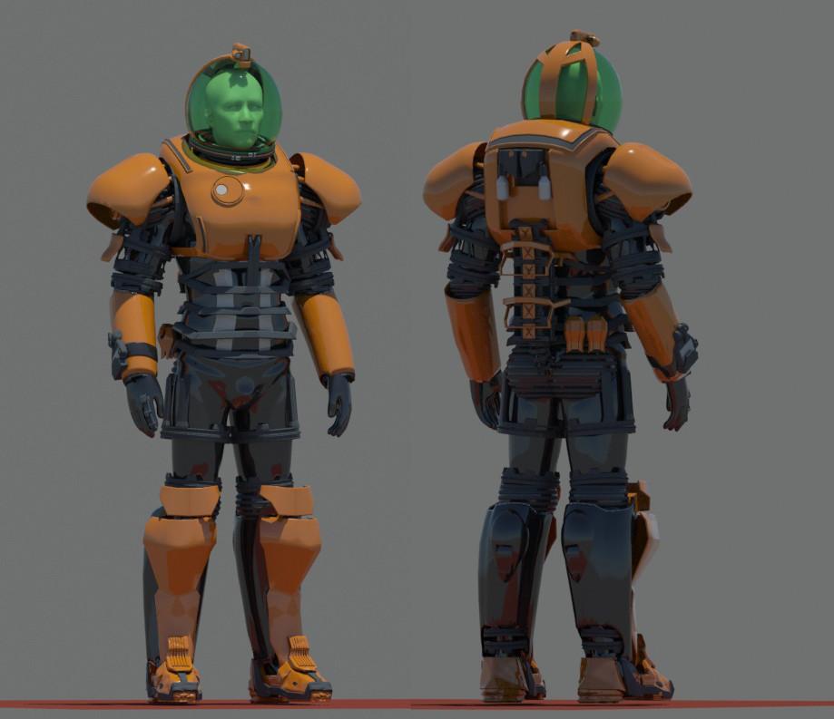 Brx wright space suit rough