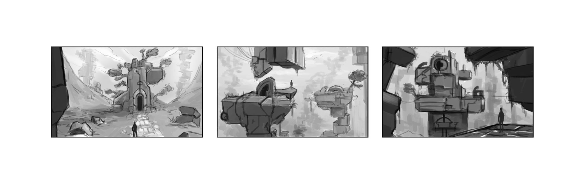 Composition thumbnail sketches