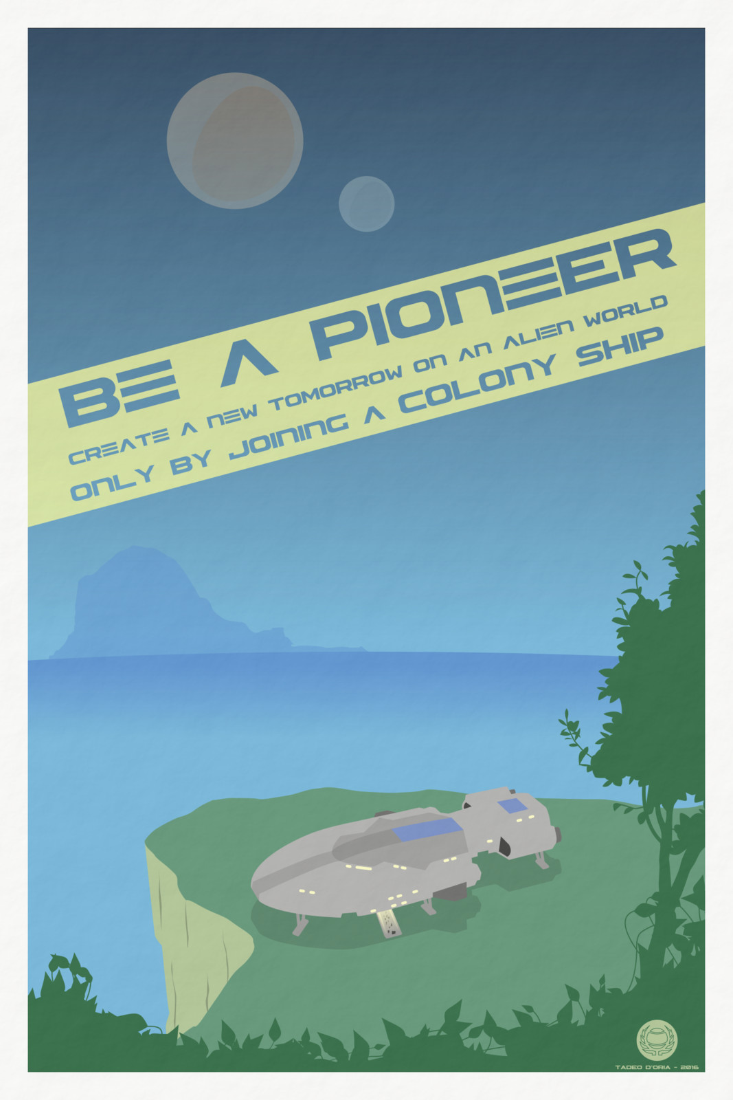 Colony Ship Poster
