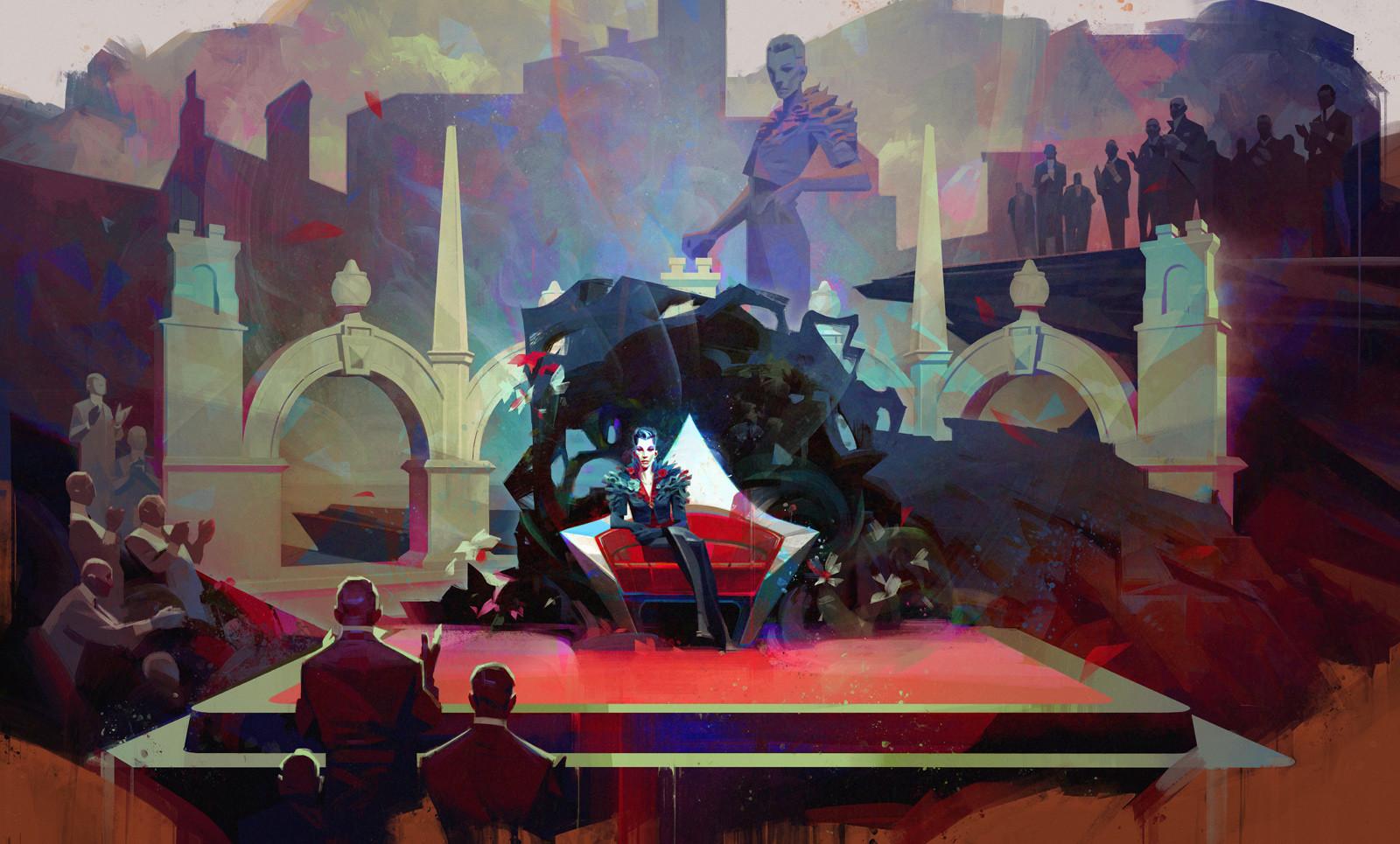 Sergey kolesov delilah throne painting color