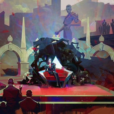 Sergey kolesov delilah throne painting color