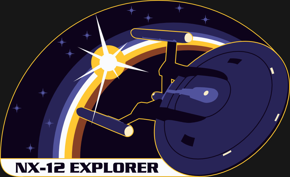 Assignment Patch for UESPA-NX-12 Explorer (inspired on the patch from NASA mission STS-100)