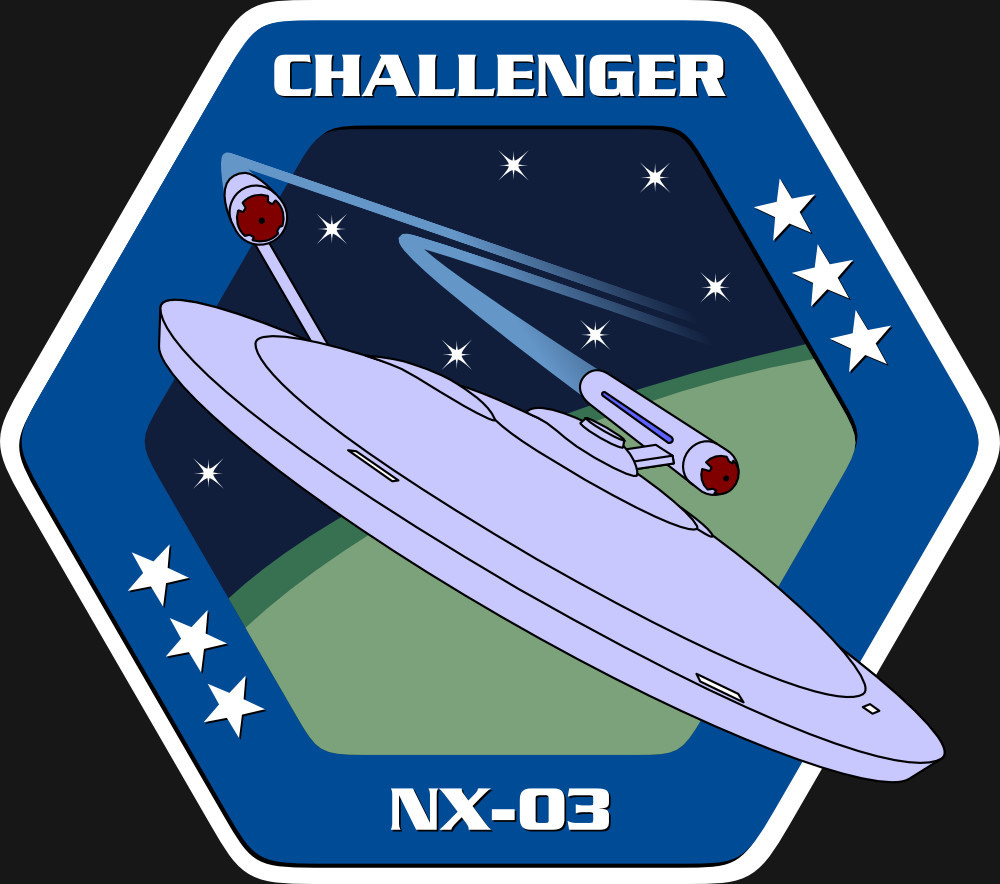 Assignment Patch for UESPA-NX-03 Challenger (inspired on the patch from NASA mission STS-6)