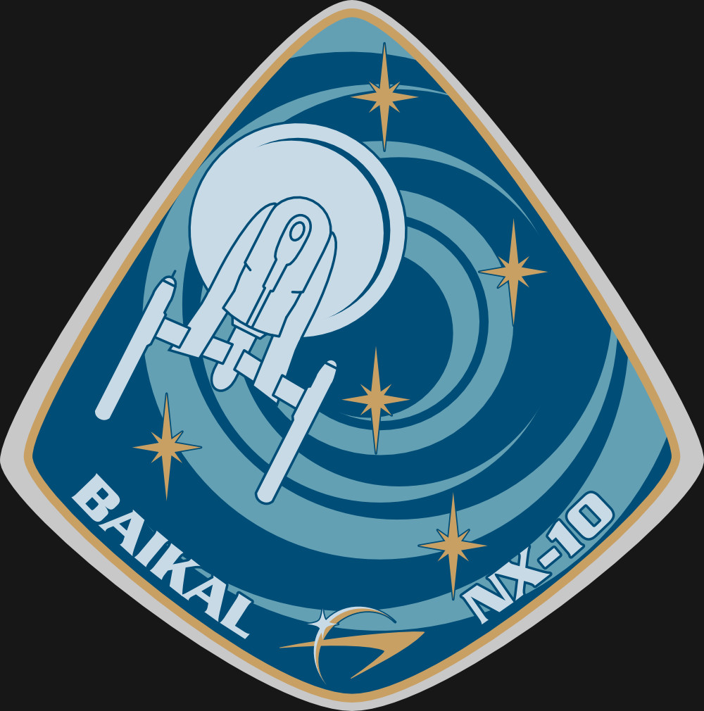 Assignment Patch for UESPA-NX-10 Baikal (inspired on the patch from Soviet mission Soyuz 28)