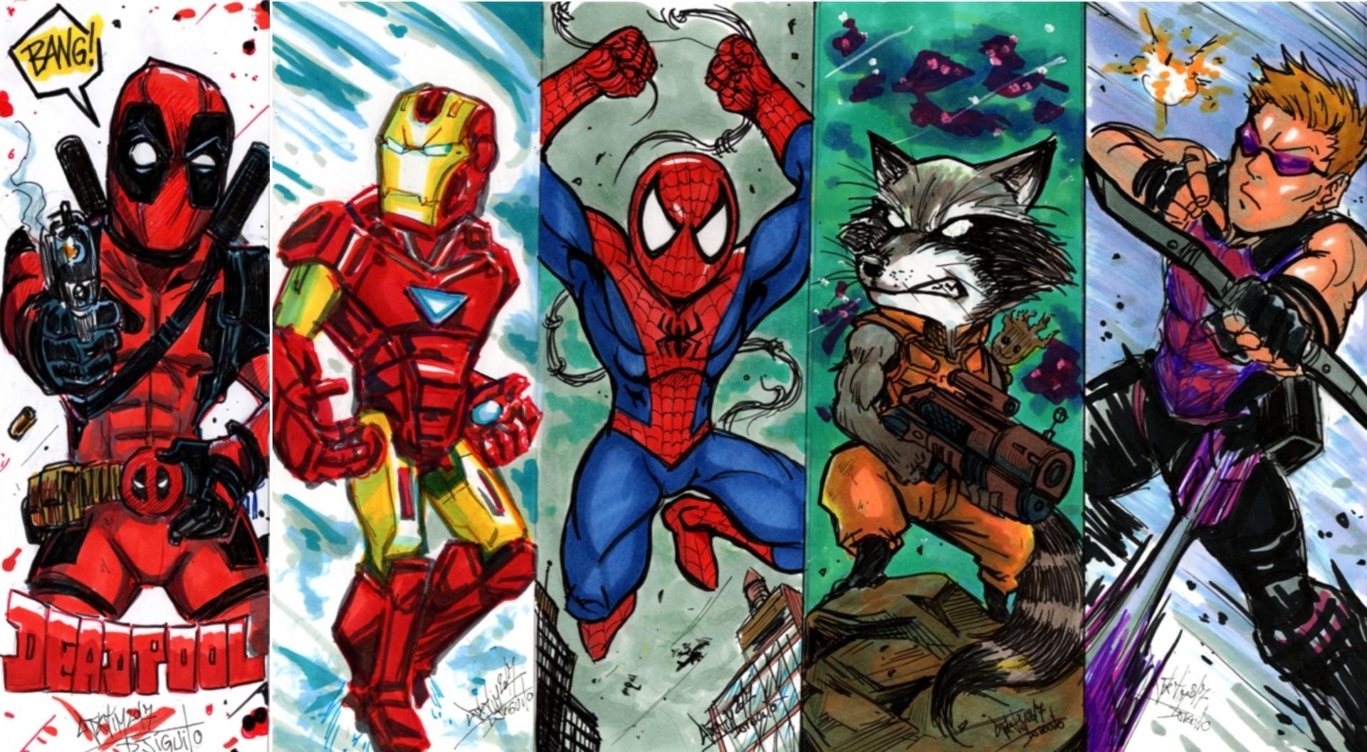Djigui Tim Bookmarks Marvel
