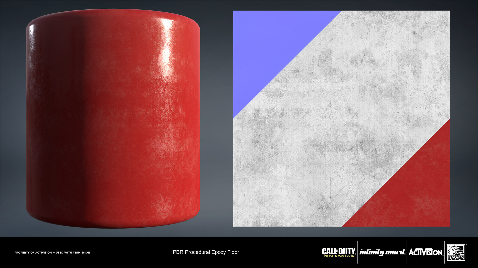 Epoxy coated material. Created entirely in Substance Designer.