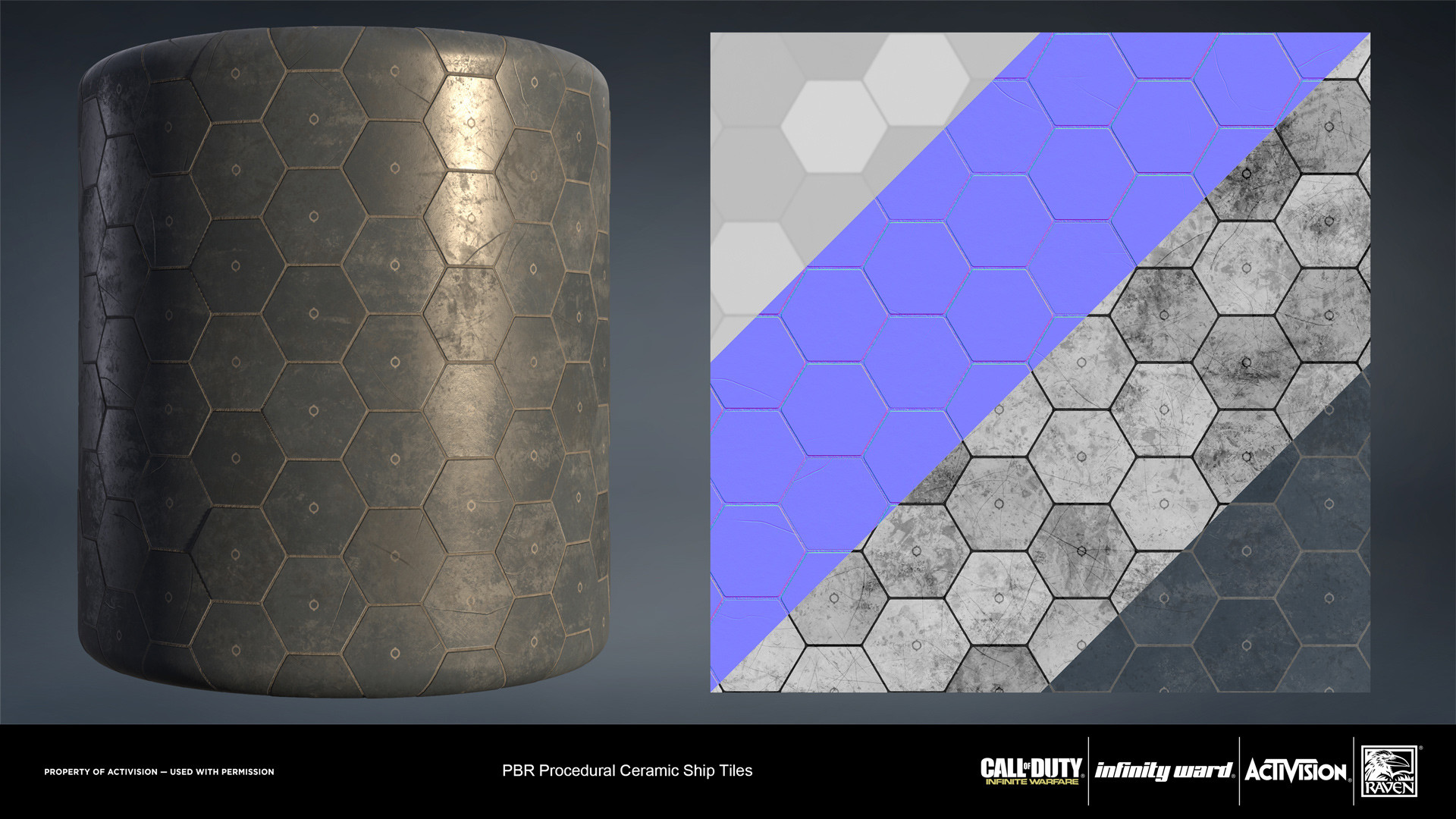 Ceramic heat plates material. Created entirely in Substance Designer.