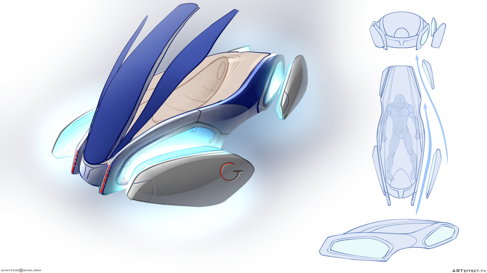 Concept Flay personal transport , open