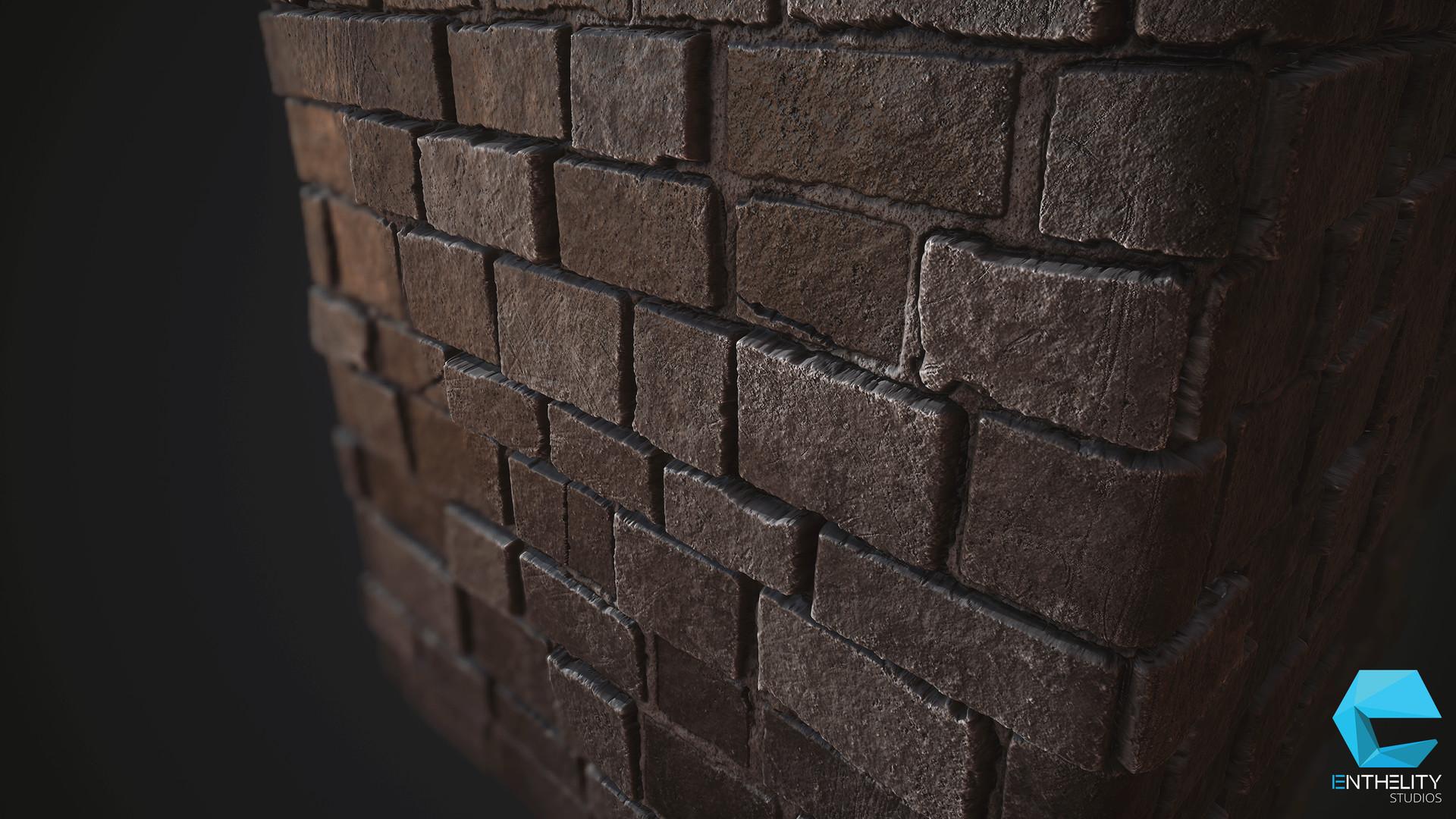 Artstation Dungeon Bricks Pbr Texture Enrico Tammek 228 Nd