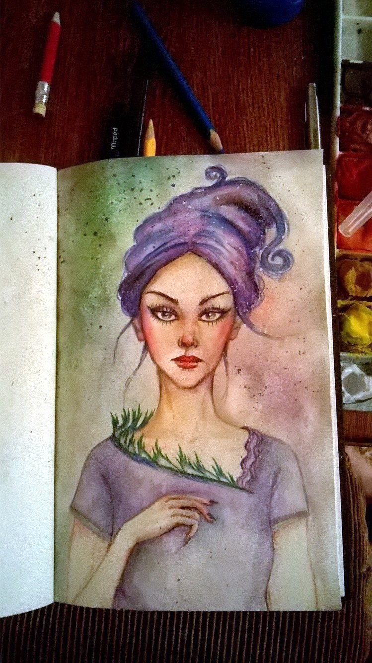 forest fairy (traditional art)