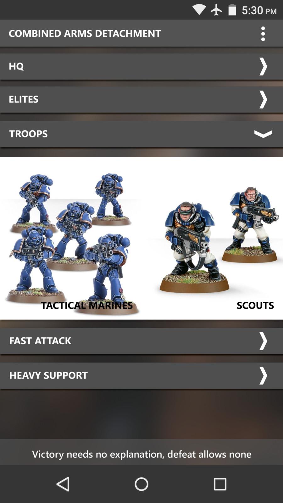 Troops breakdown