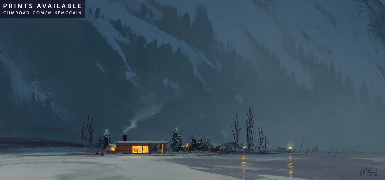 """Snowy Twilight"""