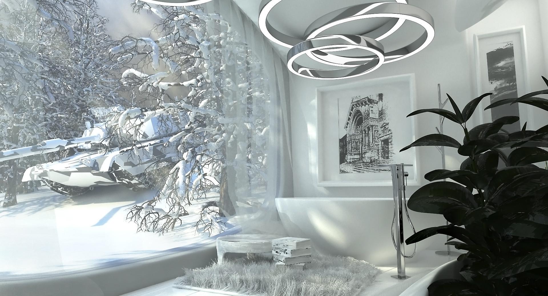 Andrzej Lewiski Futuristic Interior And Tank