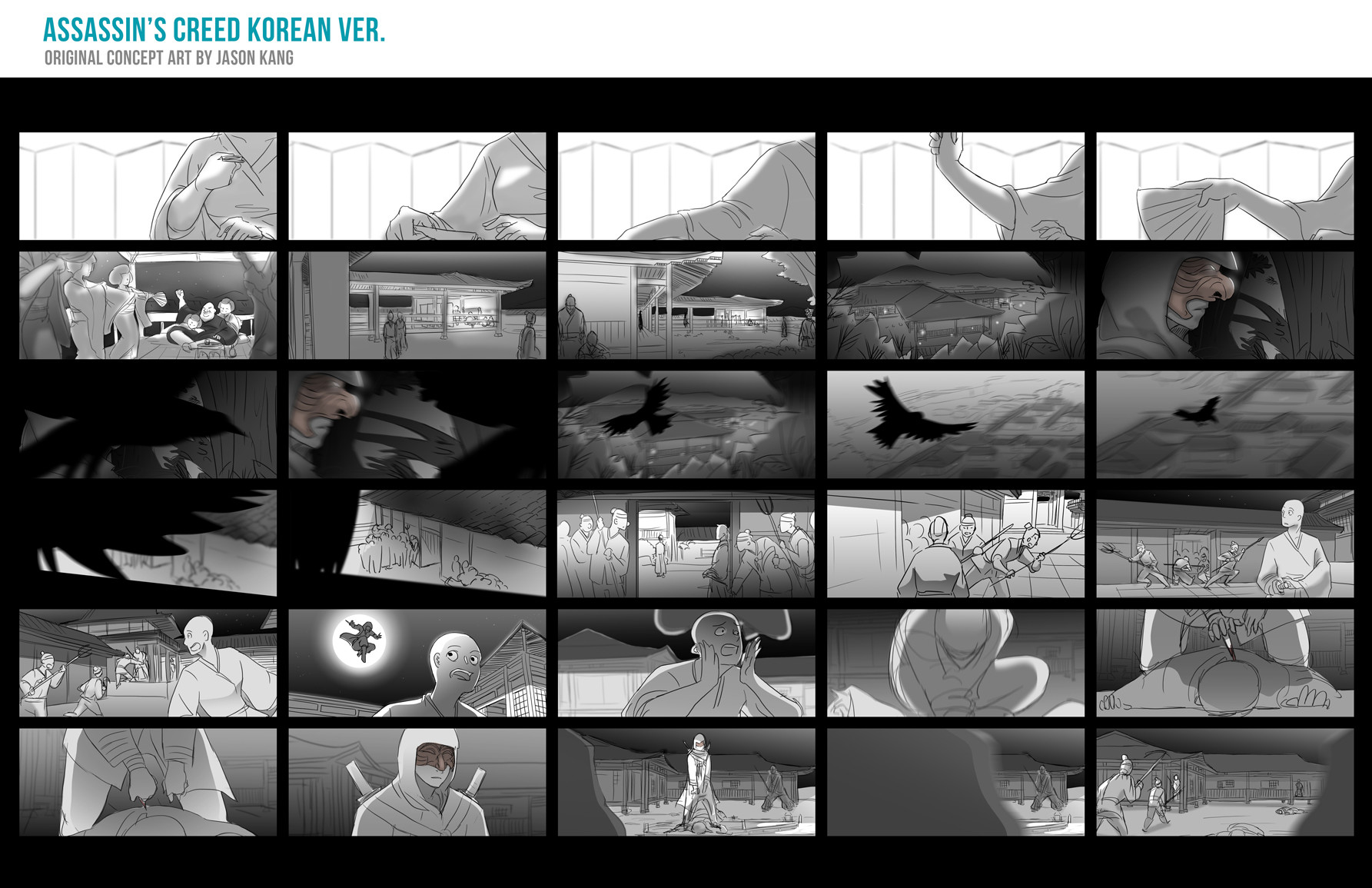 Artstation Storyboard Assassin S Creed The Land Of Morning